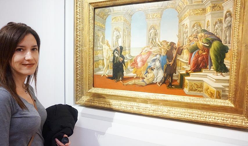 """Visitando """"La Calumnia"""" de Botticelli en Galería Uffizi de Florencia"""