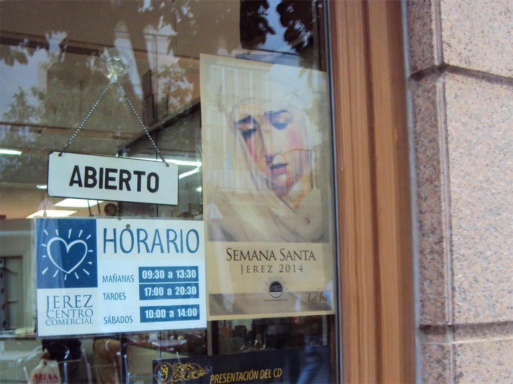 Cartel Semana Santa de Jerez 2014, realizado por la Artista Plástica Inma Peña