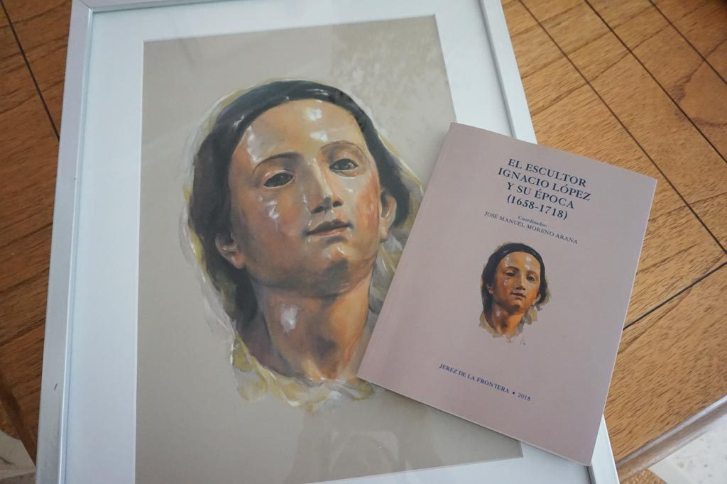 El retrato sobre la Virgen de la Luz de la Artista Plástica Inma Peña ilustra la portada del Libro