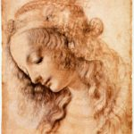 Leonardo da Vinci. 1470-1476, pluma, tinta y pigmento blanco sobre papel, 28,2×19,9 cm. Florencia, Gabinete de Diseños e Impresos de los Uffizi. Galería Uffizi.
