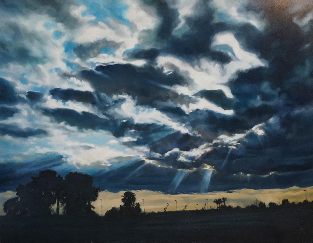 Paisaje nublado en Sevilla realizado por la Artista Plástica Inma Peña en 2004