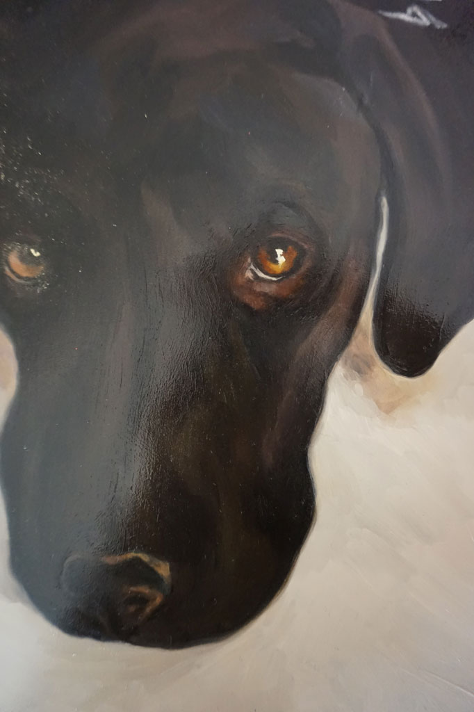 Retrato de Chulo realizado por la Artista Plástica Inma Peña en 2005 (detalle)