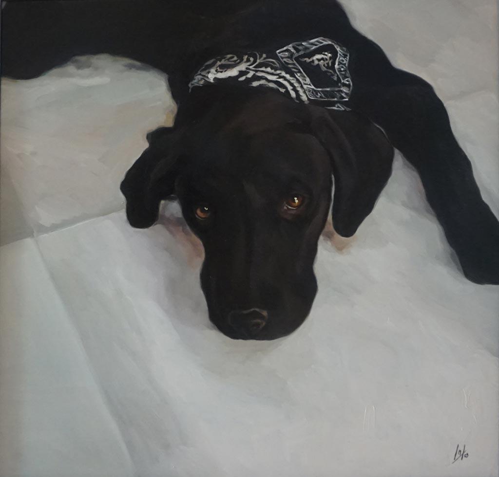 Retrato de Chulo realizado por la Artista Plástica Inma Peña en 2005