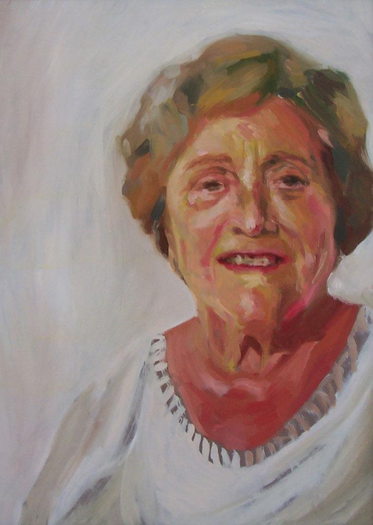 Retrato al óleo de la abuela de la artista, realizado por Inma Peña en 2006