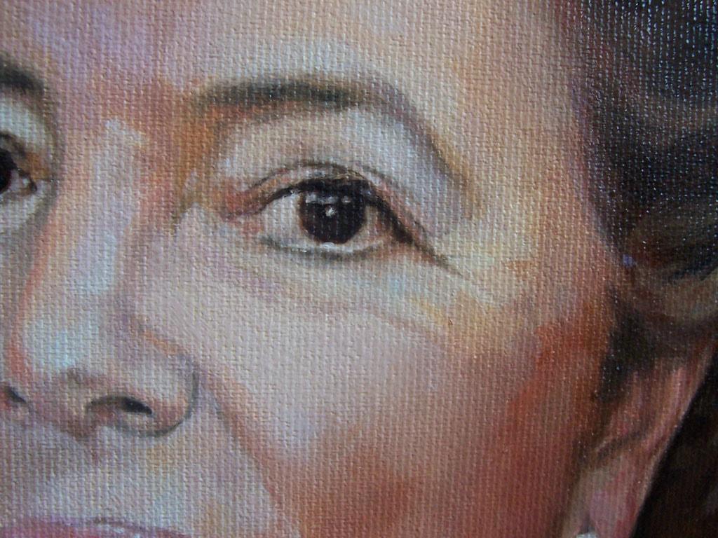 Retrato al óleo de Madrina por la Artista Plástica Inma Peña en 2007 (detalle)