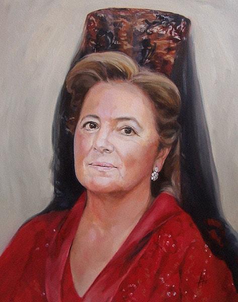 Retrato al óleo de Madrina por la Artista Plástica Inma Peña en 2007
