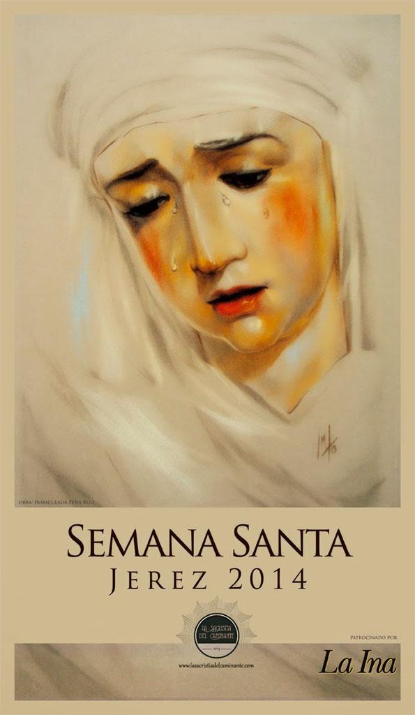 Cartel Semana Santa Jerez 2014, realizado por la Artista Plástica Inma Peña, para La Sacristía del Caminante.