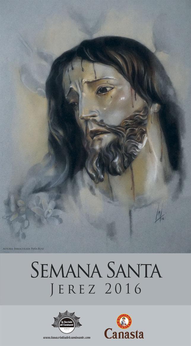 Cartel Semana Santa Jerez 2016, realizado por la Artista Plástica Inma Peña, para La Sacristía del Caminante.