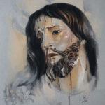 Retrato a pastel de Nuestro Padre Jesús del Prendimiento por la Artista Plástica Inma Peña en 2016