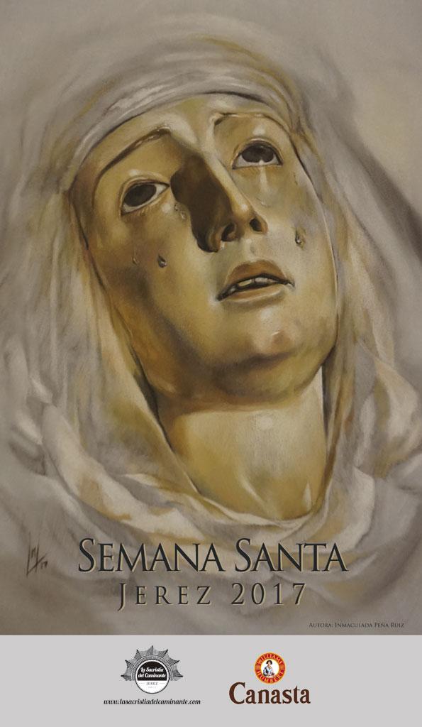 Cartel Semana Santa Jerez 2017, realizado por la Artista Plástica Inma Peña, para La Sacristía del Caminante.