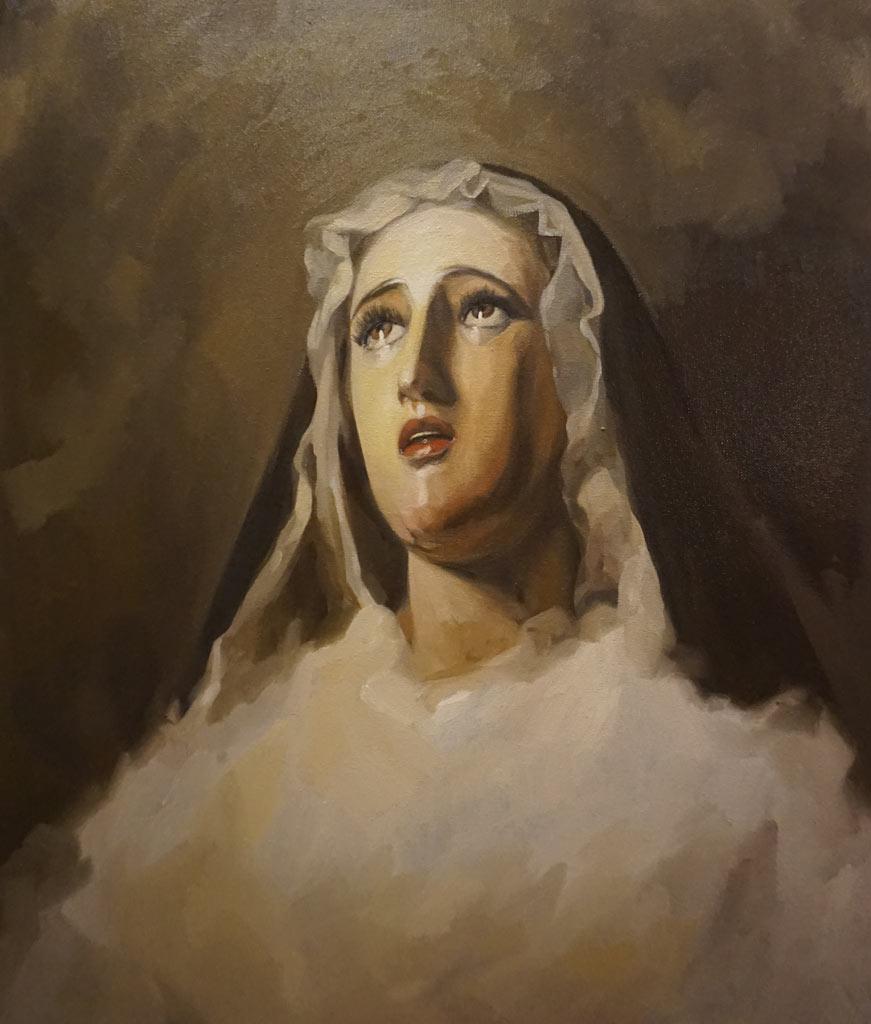 etrato de Nuestra Señora del Amor y Sacrificio de Jerez realizado por la Artista Plástica Inma Peña en 2018