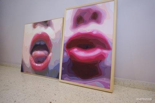 Pinturas que forman parte de la Serie Bñesame, realizadas por la Artista Plástica Inma Peña