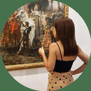 La Artista Plástica Inma Peña en Bodegas Tradición, Jerez