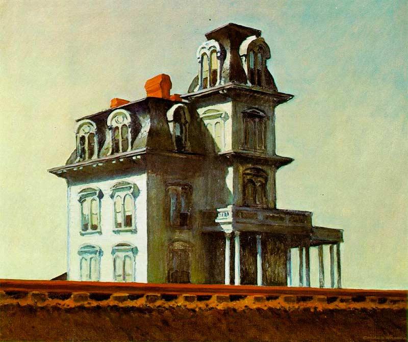 Casa junto a la vía del tren, Hopper