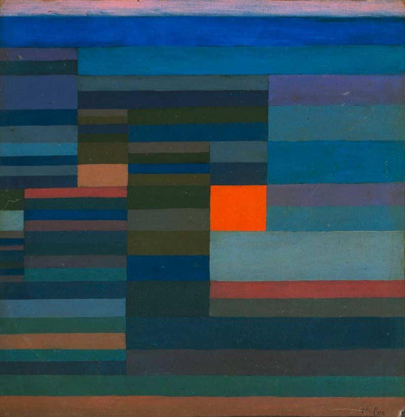 Fuego de la tarde, Klee