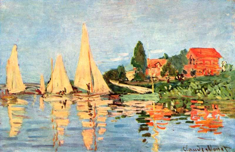 Regatas en Argenteuil, Monet