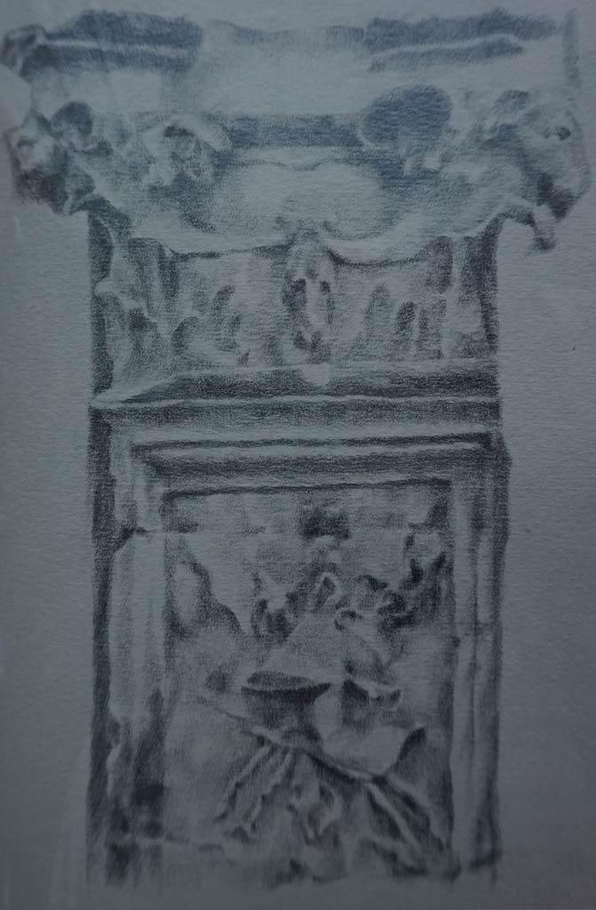 Columna cajeada. Estudio ornamental de la Casa-Palacio Ponce de León de Jerez