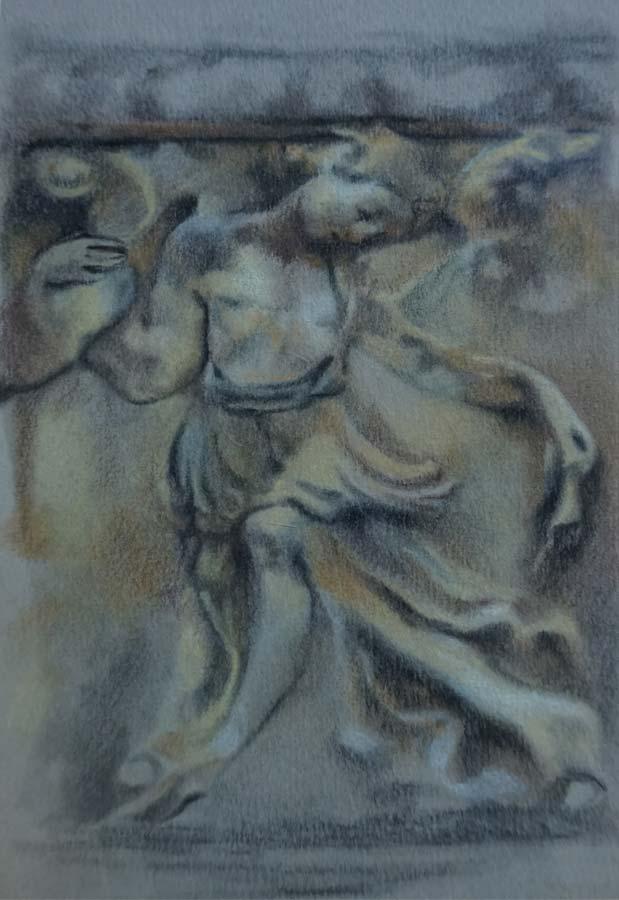 Figura de ángel del Podio. Estudio ornamental de la Casa-Palacio Ponce de León de Jerez