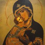 Icono de Vladimir (detalle) realizado por la Artista Plástica Inma Peña, 2004 • Temple sobre tabla
