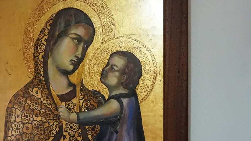 Virgen Gótica realizada por la Artista Plástica Inma Peña, 2003 • Temple sobre tabla