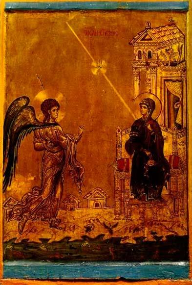 Icono de la Anunciación. Monasterio de Santa Catalina del Monte Sinaí.