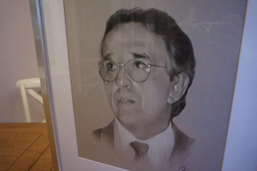 Retrato de Ángel Sáez Lalana por la artista plástica Inma Peña