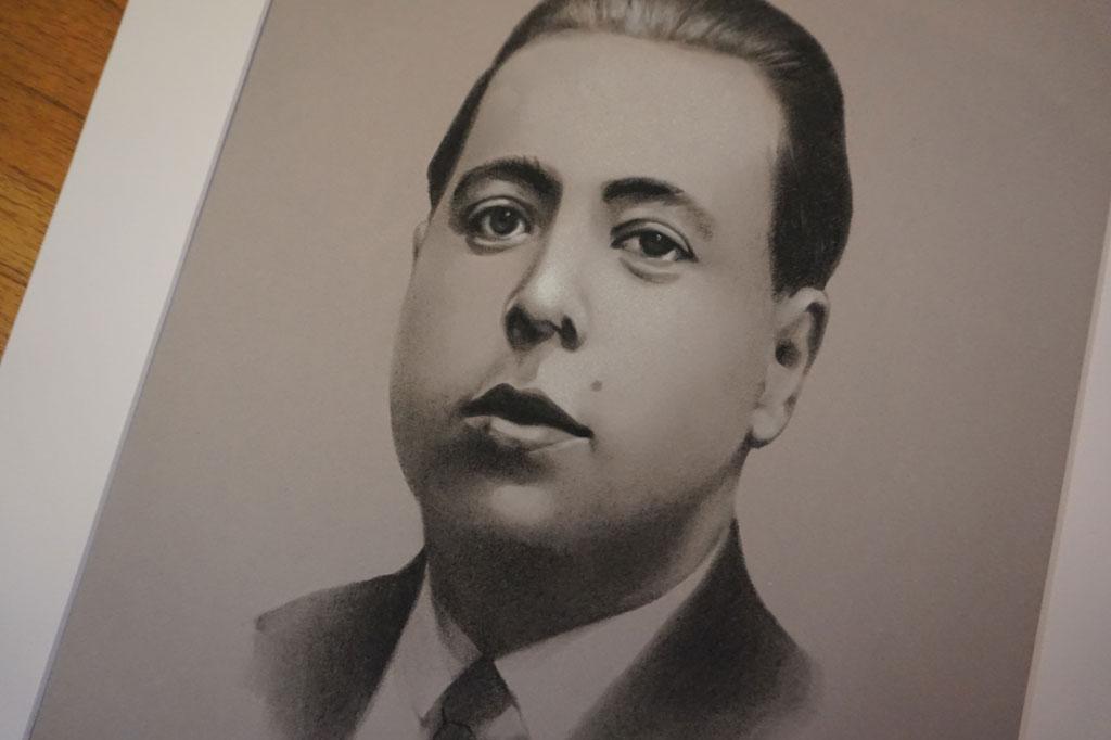 Retrato de Diego Zuleta y Queipo de Llano por la artista plástica Inma Peña