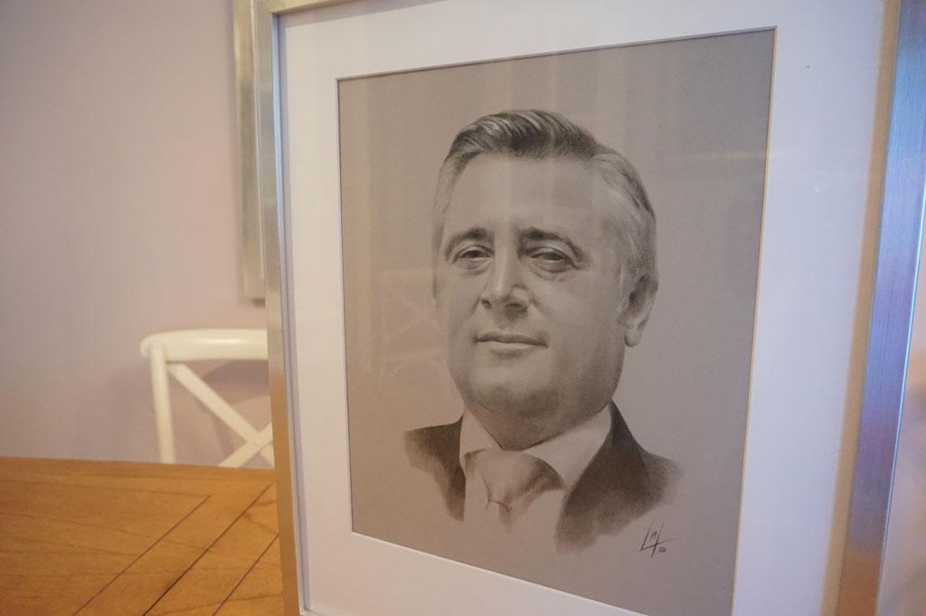 Retrato de Francisco Rivelott García de Polavieja por la artista plástica Inma Peña