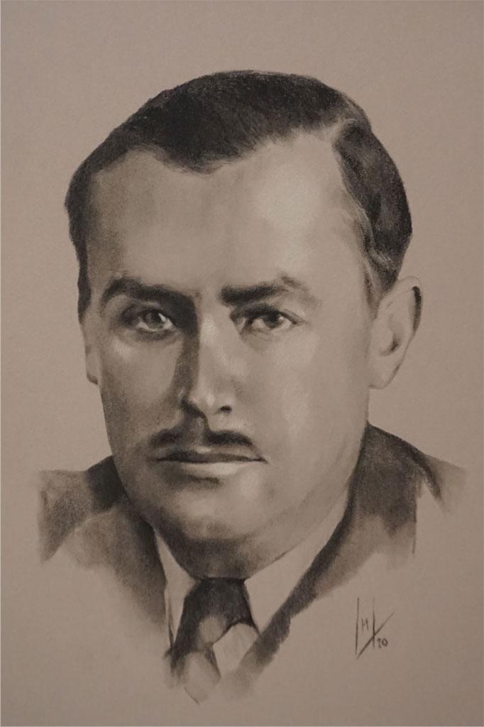 Retrato de José lópez de Carrizosa e Ibarra por la artista plástica Inma Peña
