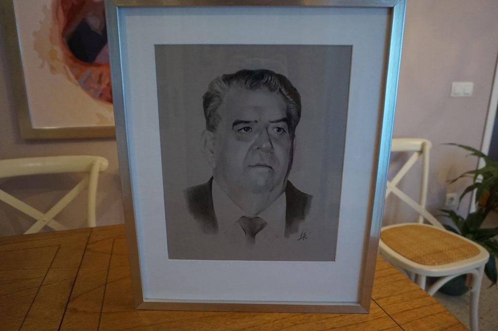 Retrato de José Ruiz de Velasco Navarro por la artista plástica Inma Peña