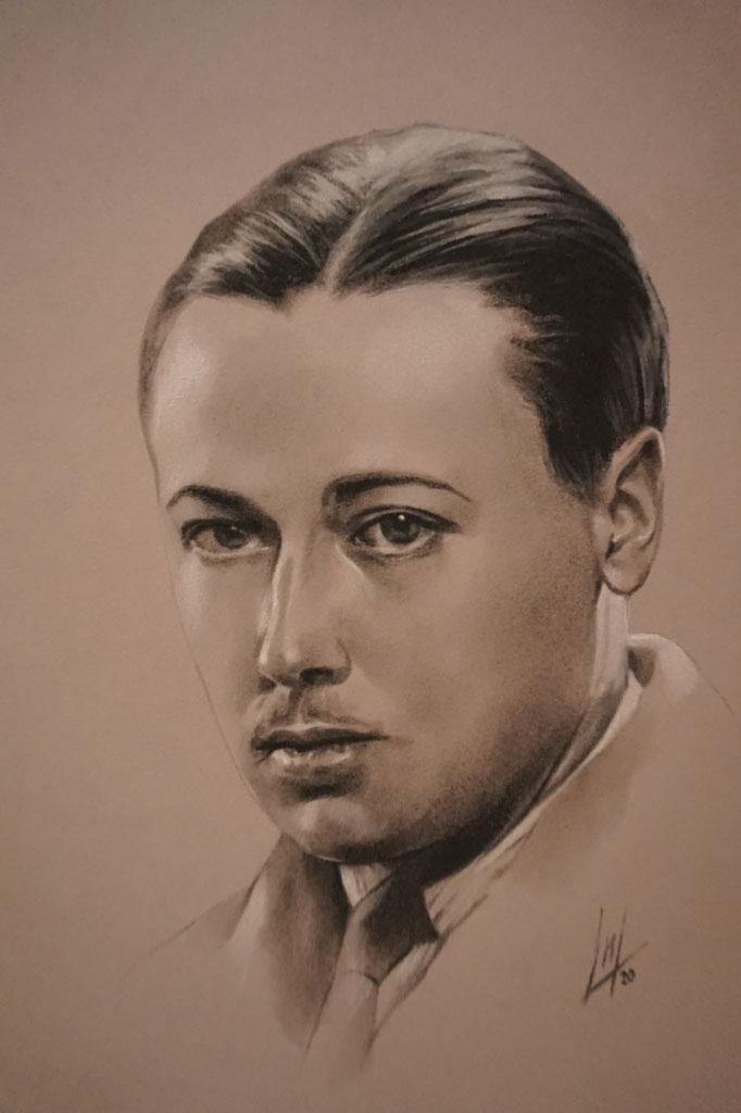 Retrato de Manuel Jesús Domecq González por la artista plástica Inma Peña