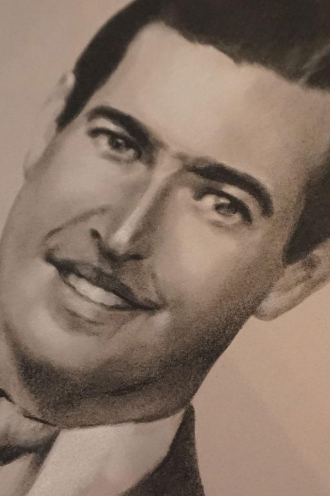 Retrato de Pedro López de Carrizosa e Izaguirre por la artista plástica Inma Peña