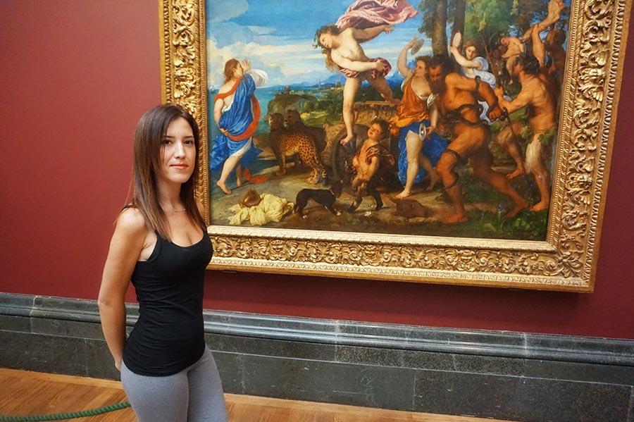 """Visitando la obra """"Baco y Ariadna"""" en la National Gallery de Londres"""