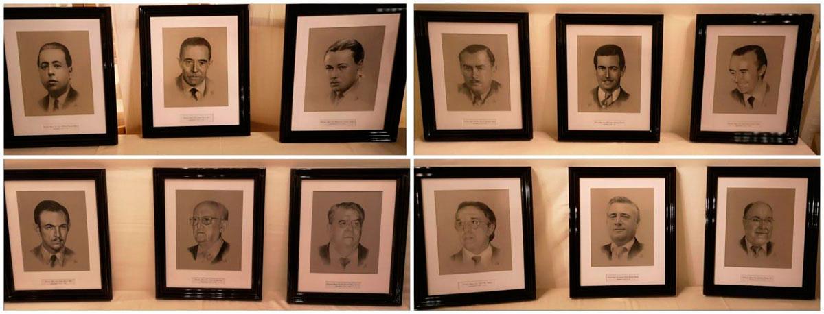 Serie de retratos de Hermanos Mayores de la Hermandad del Mayor Dolor