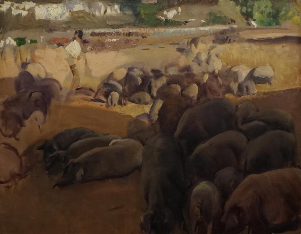 La Piara (estudio para Extremadura). Joaquín Sorolla y Bastida