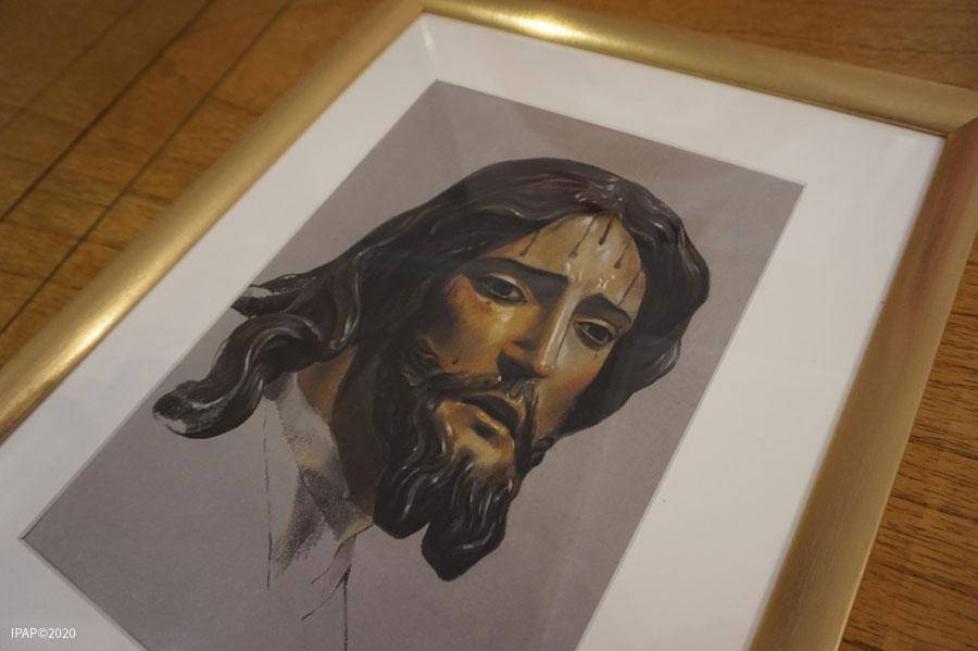 Nuestro Padre Jesús del Prendimiento. Inmaculada Peña Ruiz. 2020. Pastel, 22 x 30 cm. Colección particular, Jerez.
