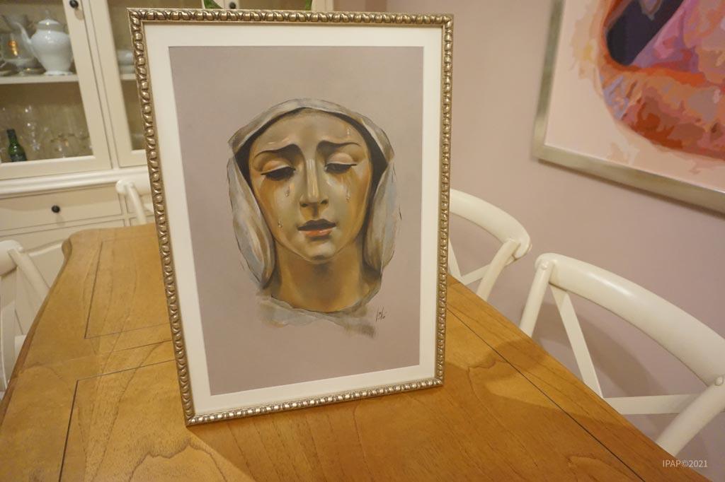 Retrato de María Santísima de la Salud y Esperanza de la Hermandad de la Clemencia de Jerez