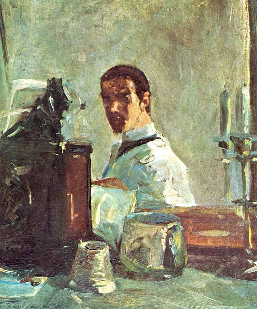 Autorretrato, Henri de Toulouse-Lautrec