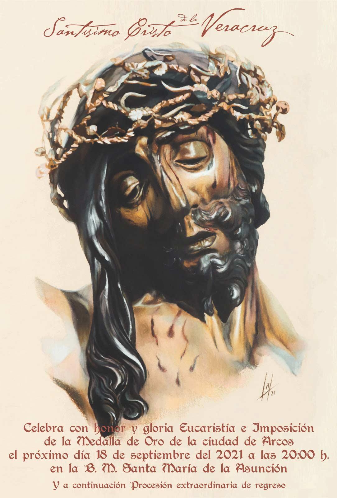 Cartel Oficial del Santísimo Cristo de la Vera Cruz de la Hermandad de la Vera+Cruz de Arcos de la Frontera