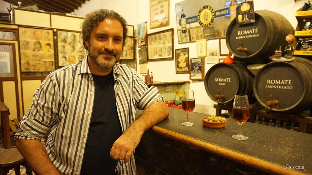 Francisco J. Becerra en Tabanco La Pandilla. Foto: Inma Peña.