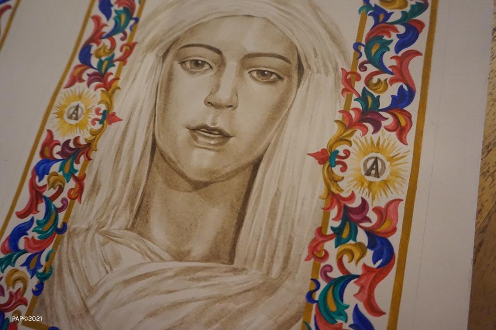 Ilustraciones para el Libro de Reglas de la Hdad. del Resucitado de El Puerto de Santa María realizadas por la artista Inmaculada Peña